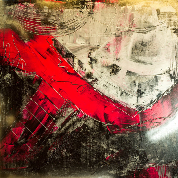 """Break through"" 51""X47"" mixed media on canvas Contemporary abstract"