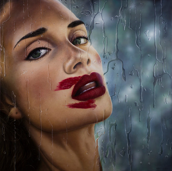 """Cherry Lips"" by Gustavo Fernandes, Oil on Canvas"