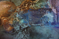 """Blue Light"" by Kristin Brå Oksavik, Mixed Media"