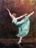 """Dancing in Green"" by Eric Wallis, Oil on Canvas"