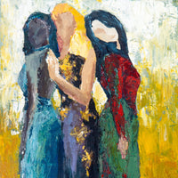 """Les Femmes"" by Dani Frans, Acrylic on Canvas"