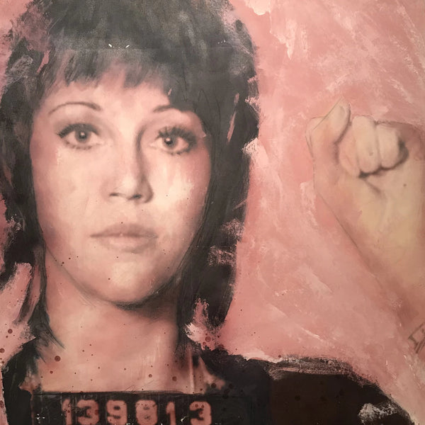 """Jane"" by Danny Greene, Mixed Media on Canvas"