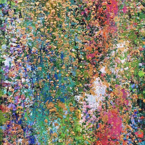 """Cascading Grace"" by Teresa Daugherty, Acrylic on Canvas"