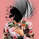"""Delicate"" by LYS, Digital Collage Print"