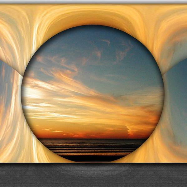 """Earth, Wind & Light"" by Brenda Star, Digital Abstract on Glossy Metal"