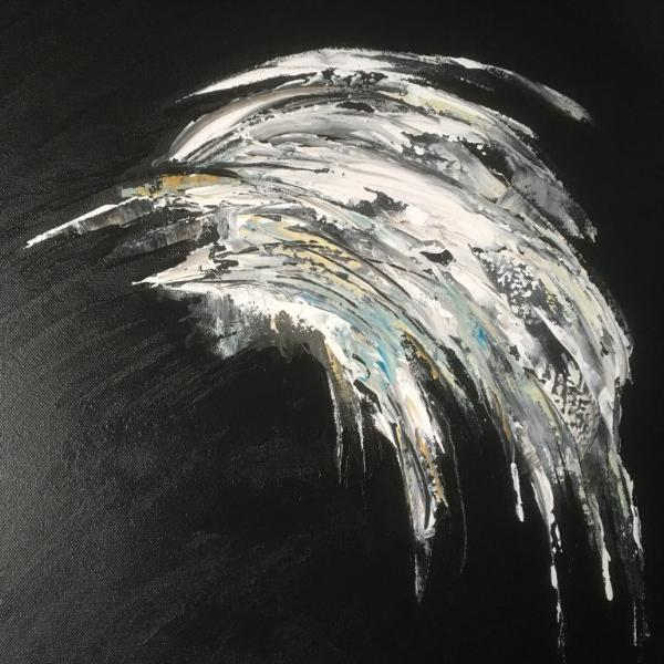 """Feathery"" by Jet Willems, Acrylic on Canvas"
