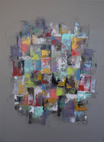 """First Patchwork"" by Laura Payen, Acrylic on Canvas"