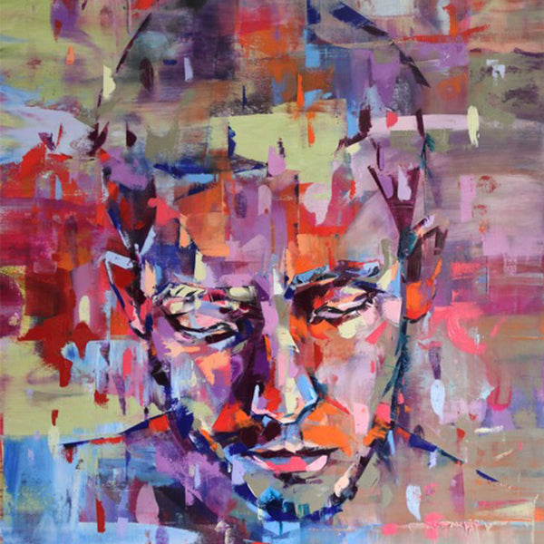 """Focus"" by Bastien Ducourtioux, Mixed Media on Canvas"