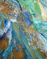 Neptune by Innessa Laurel, Mixed Media on Canvas