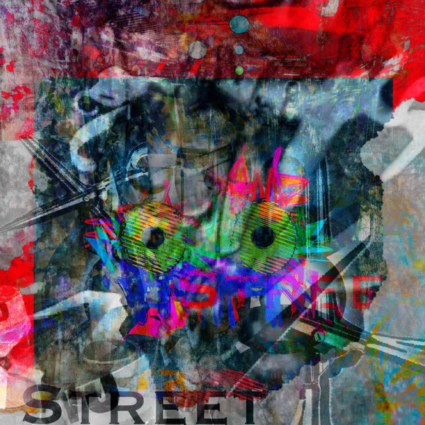 """Untitled- Street"" by Jennifer L Gray & Phillip Johnson, Digital Mixed Media on Canvas"