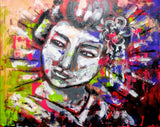 """Geisha"" by Thais Coelho, Acrylic on Canvas"