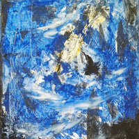 """Blue"" by Tiberio Savonuzzi, Mixed Media on Canvas"