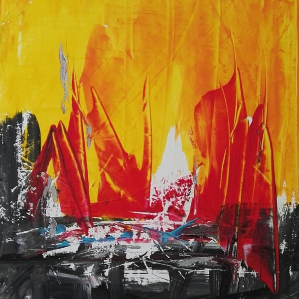 """Fire"" by Tiberio Savonuzzi, Mixed Media on Canvas"