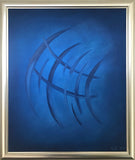 """Movement"" by Cecilie Kolderup, Oil on Canvas with Silver Frame"