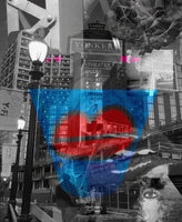 """Loving Yonkers"" by Jennifer L Gray & Phillip Johnson, Digital Mixed Media on Canvas"