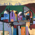 Village Outside of Town by Judith Visker, Oil on Canvas