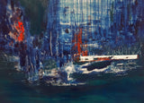 """Waterfall"" by Sadaf Kobari, Acrylic on Canvas"