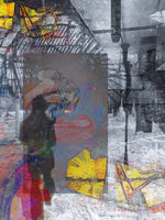 """Untitled-Passing Through"" by Jennifer L Gray & Phillip Johnson, Digital Mixed Media on Canvas"