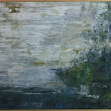 """Water Patch"" by Liselena Dalla Corte, Acrylic on Canvas (Framed)"
