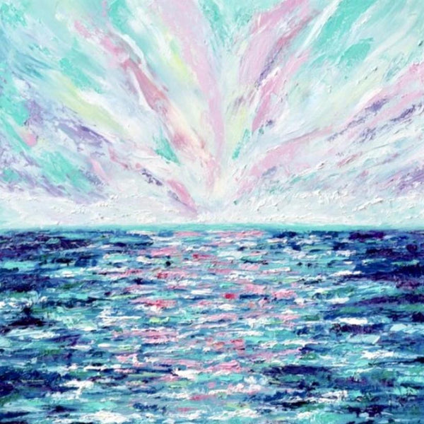 """Summer Sky"" by Brianna D'Amato, Oil on Canvas"