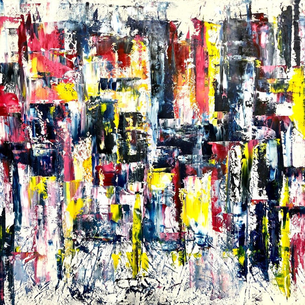 """Abstract City"" by Jennifer Godshalk, Oil on Canvas"