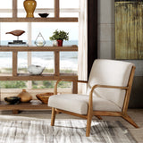 INK+IVY Mid-Century Modern Novak Cream / Natural Lounge Chair