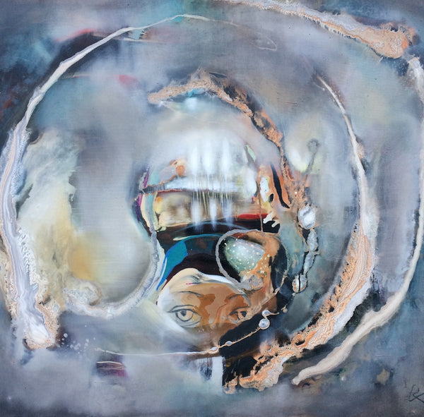 """Internal Observer"" by Baiba Redere, Mixed Media on Canvas"