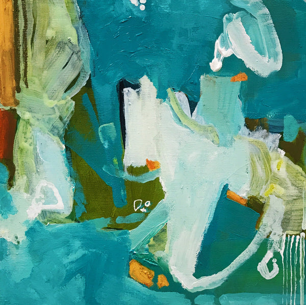 """Dive In"" by Jill Gapczynski, Mixed Media on Canvas"