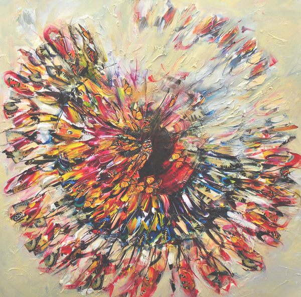 """Kaleidoscope"" by Victoria Horkan, Mixed Media on Canvas"
