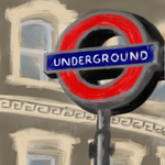 """London Underground"" by Raheem Nelson, Digital Painting Printed on Canvas"
