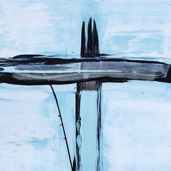 """Untitled 1"" Lou Tarter Acrylic Cross Stretched on Canvas"