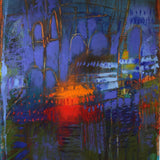 """Luminous Nite"" by Mira M. White, Mixed Media on Paper"