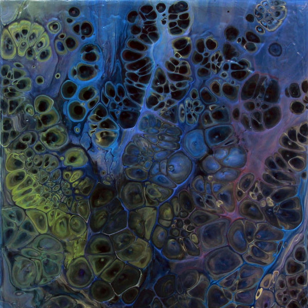"""Lustrous Flux"" by Jeremy Bouchard, Acrylic Paint and Medium on Wooden Panel"
