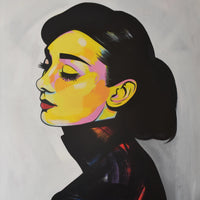 """Audrey Hepburn"" by Brandon Hernandez, Acrylic on Canvas"