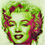 """Marilyn Monroe"" by Octavian Mielu, Colored Plywood"