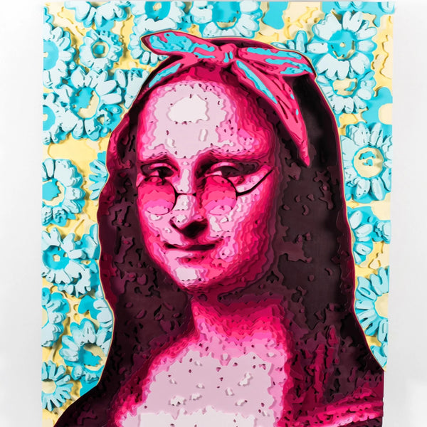 """Monalisa"" by Octavian Mielu, Colored Plywood"