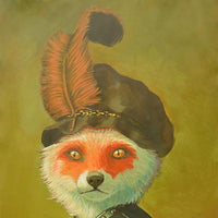 """Mr Fox"" by Miguel Reyes, Acrylic on Paper"