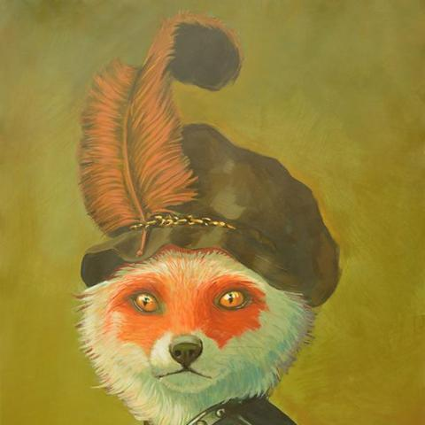 """Mr Fox"" by Miguel Reyes, Oil on Board"