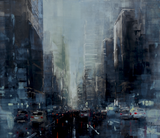 """New York Dark Afternoon VI"" by Martin Koester, Oil on Panel"