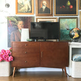 "Nicolas 52"" Mid-Century TV Stand with drawers"