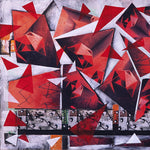 """Red Angle"" by Carol Weinberg, Mixed Media on Canvas"