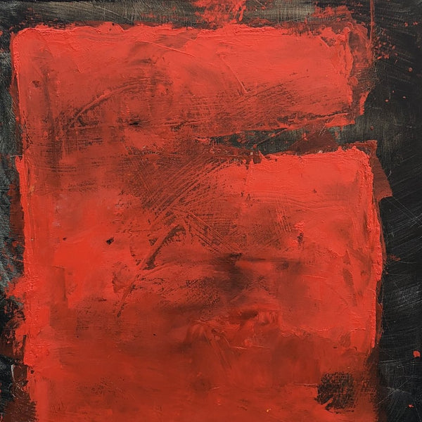 """Red Rectangle"" by Ellen Hallie Schiff, Oil on Canvas"