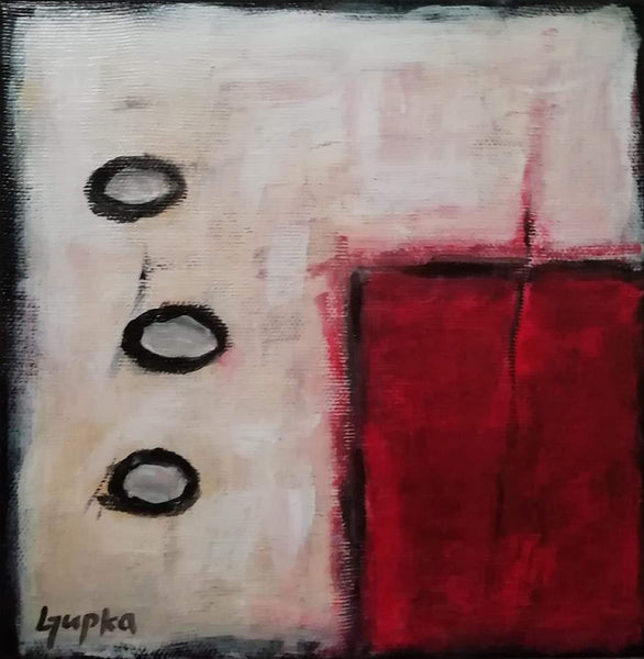 Red Variation 3 by Ljupka Mitic-Madic, Acrylic on Canvas