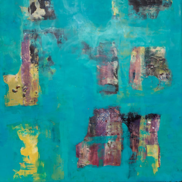 "Turquoise Underneath"" by Rita Klachkin, Mixed Media"