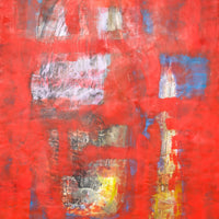 """Red Underneath"" byRita Klachkin, Mixed Media"