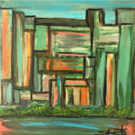 """Central Park"" By Sallie Otenasek, Acrylic on Pine Board"