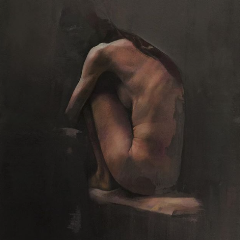 """Bent"" by Yuriy Ibragimov, Pastel on Paper"