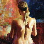 """Violet Wrap"" by Eric Wallis, Oil on Linen"