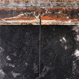 """When the Moon Draws the Landscape"" by Carlos Garcia, Mixed Media on Canvas"