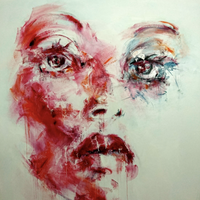 """The Mask"" by Sabine Danze, Mixed Media on Canvas"